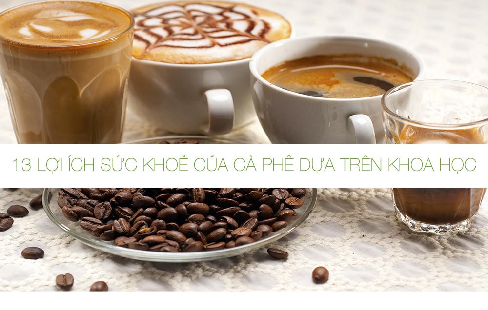 13 lợi ích sức khoẻ của cà phê dựa trên khoa học